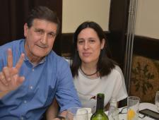 Rafa Marañon i Sra. Penya Blanc-i-Blava de Blanes