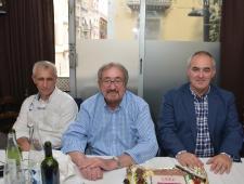 Carles García, Josep Maria Mortes i Alfred Puig. Penya Blanc-i-Blava de Blanes