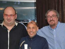 Xavi López, Javier de Haro i Josep Maria Mortes. Penya Blanc-i-Blava de Blanes