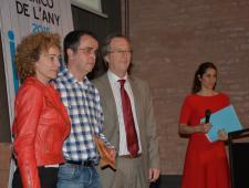 Ramón Condal fill i Josep Sánchez - Director de la Grada